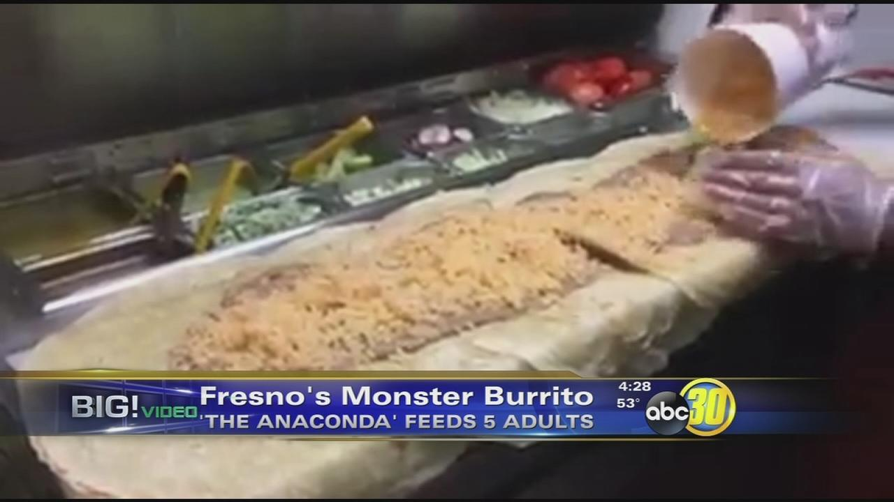 Fresno restaurant gains fame with 3-foot Anaconda burrito