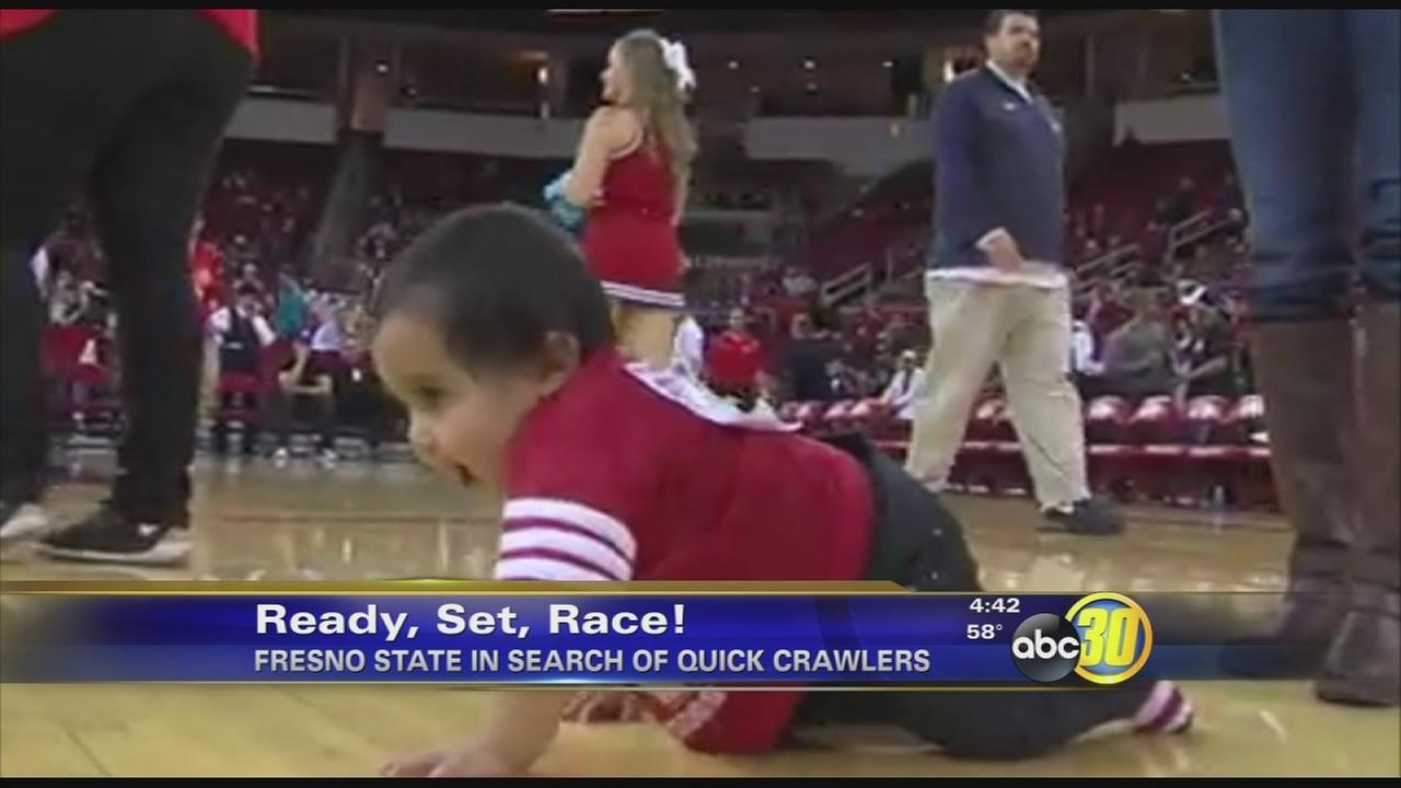 Fresno State holding baby race