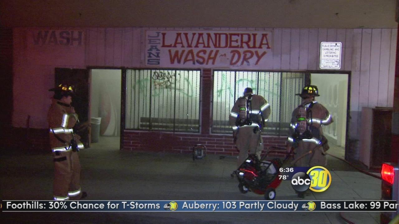Fire damages laundromat in Southeast Fresno