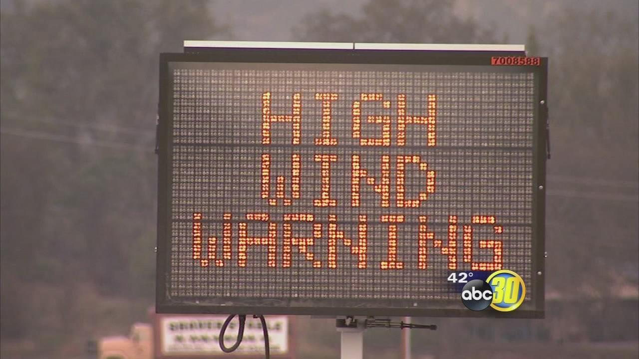 Officials from Sierra National Forest telling those heading up this winter to be prepared for high winds