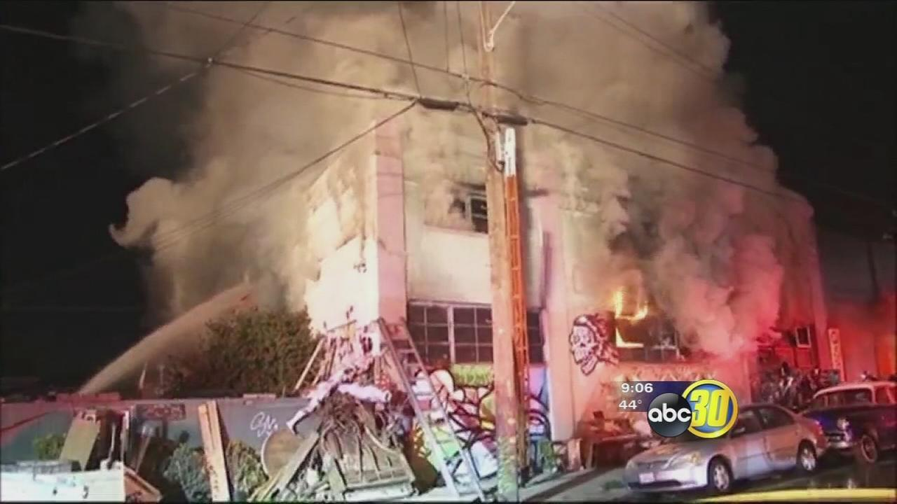 At least 9 dead, 25 unaccounted for in Oakland fire