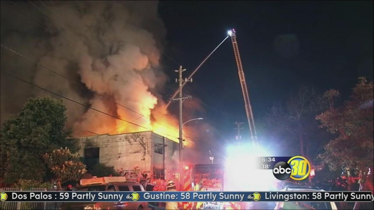 At least 36 people killed in a warehouse fire in Oakland