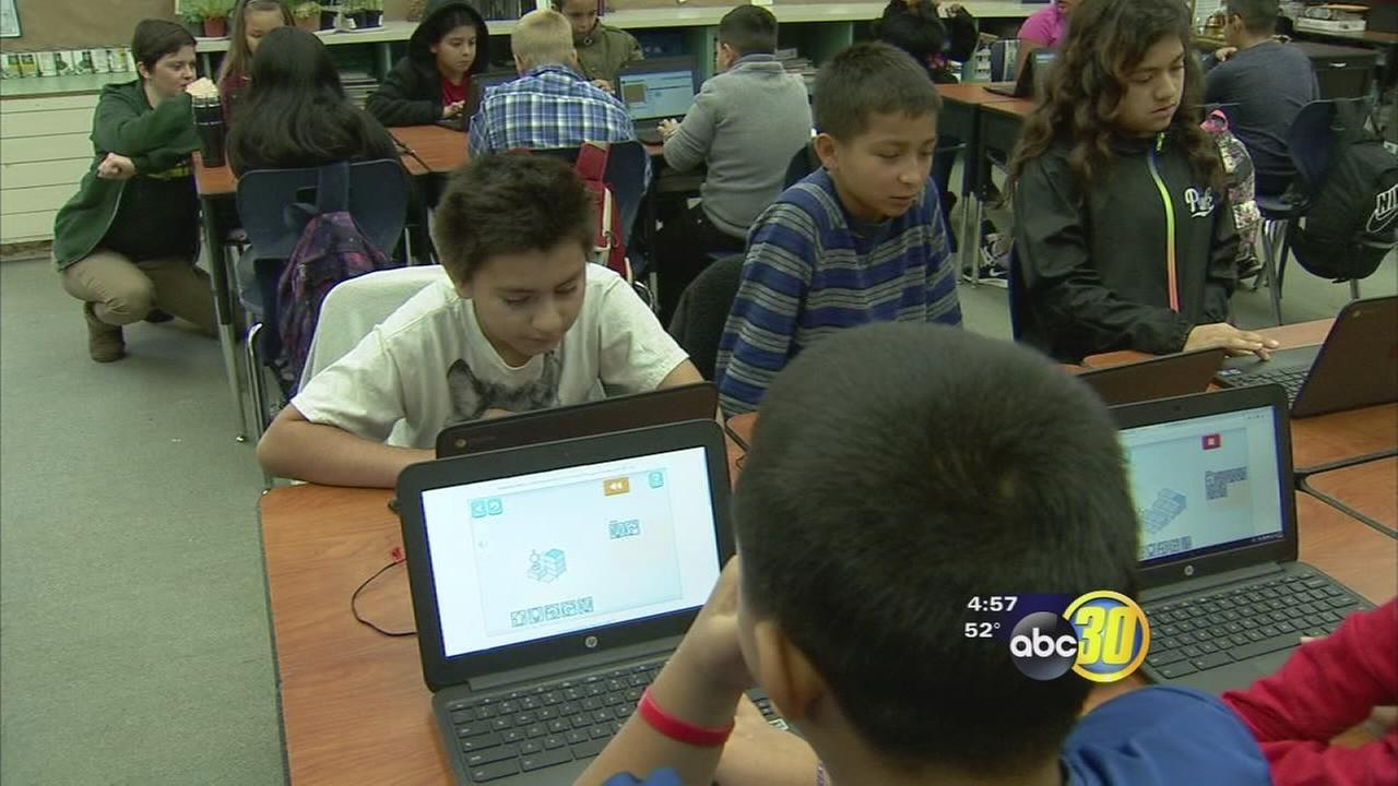 Central Unified kids learn advanced computer skills during Hour of Code movement