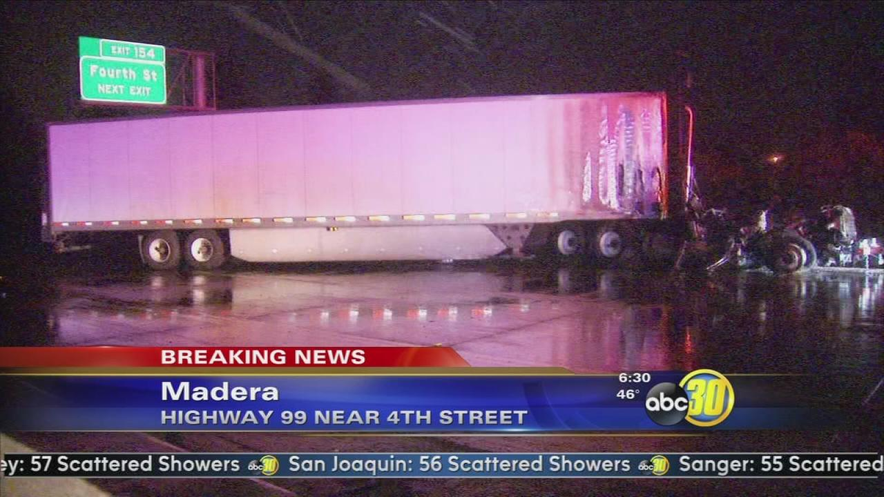 Major accident on SB Freeway 99 at 4th Street in Madera