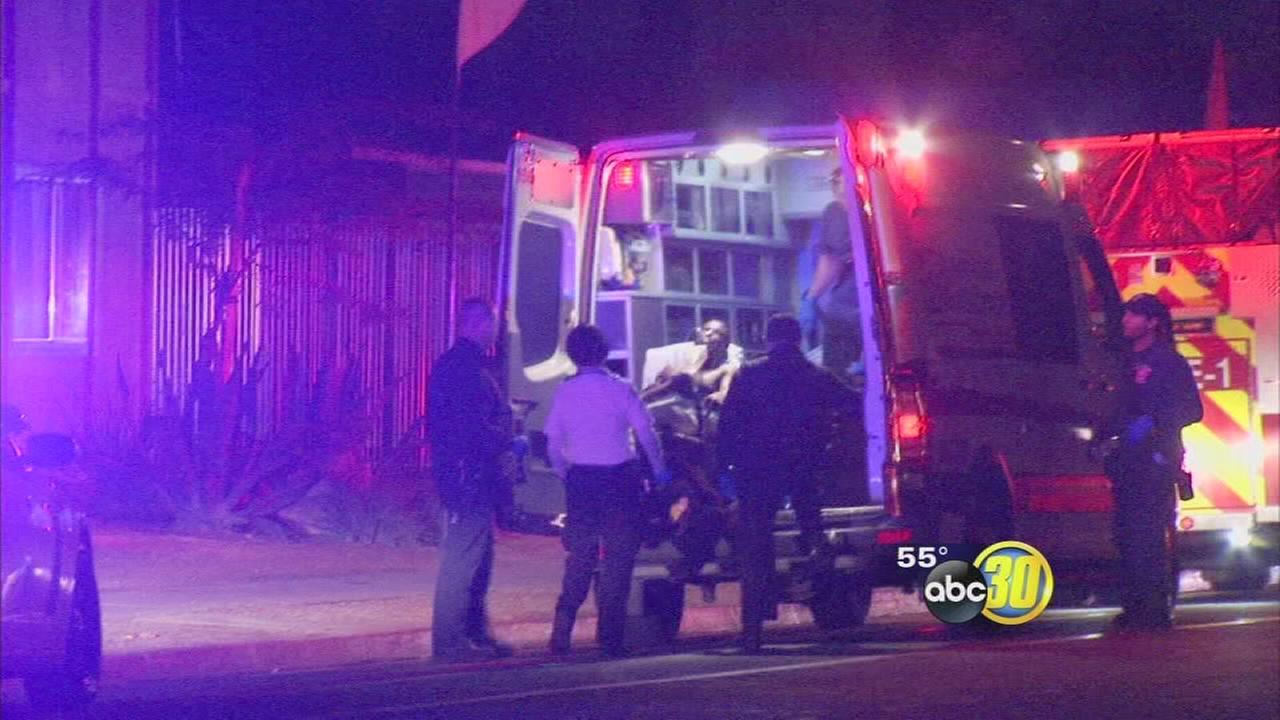 A knock on a door in East Central Fresno ends with a man shot and in serious condition