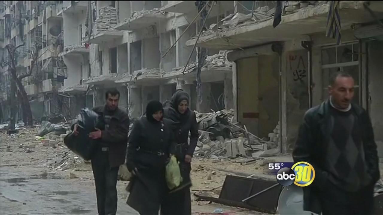 The mayhem in Aleppo has local Syrian families concerned