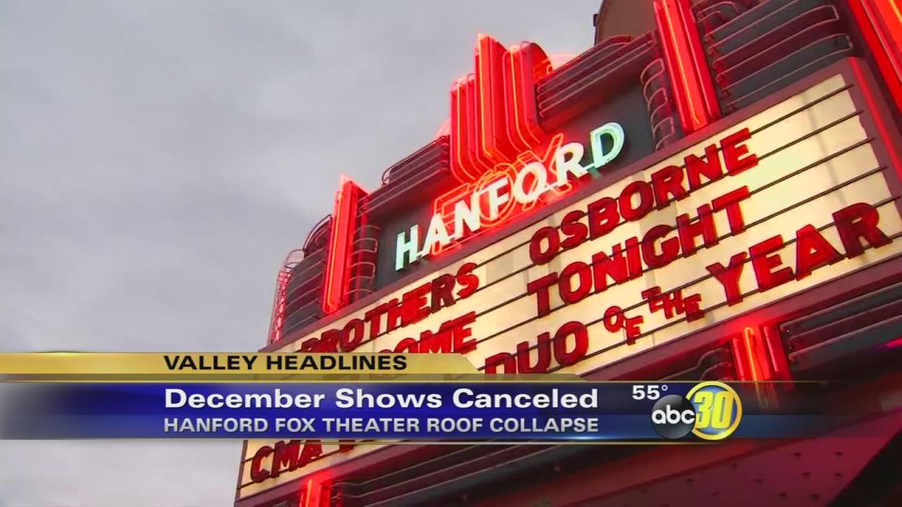 Hanford Fox Theater cancels all shows in December