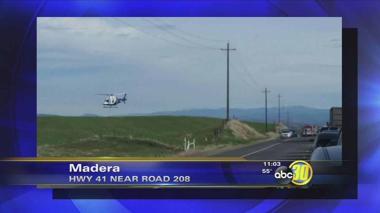 Several vehicles crash on Highway 41 in Madera County