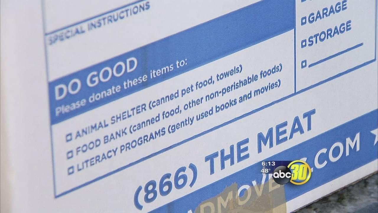 Local moving company using boxes to help those in need in the community