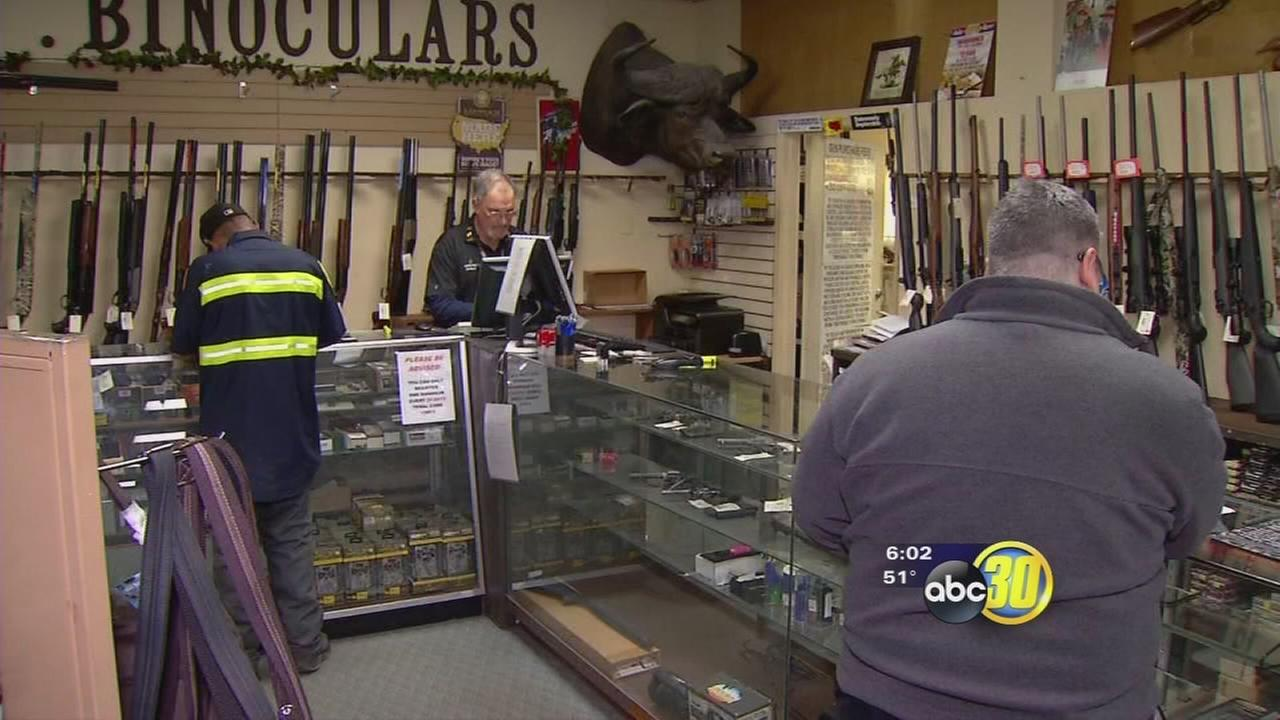 Business at gun shops as buyers try to beat new gun laws
