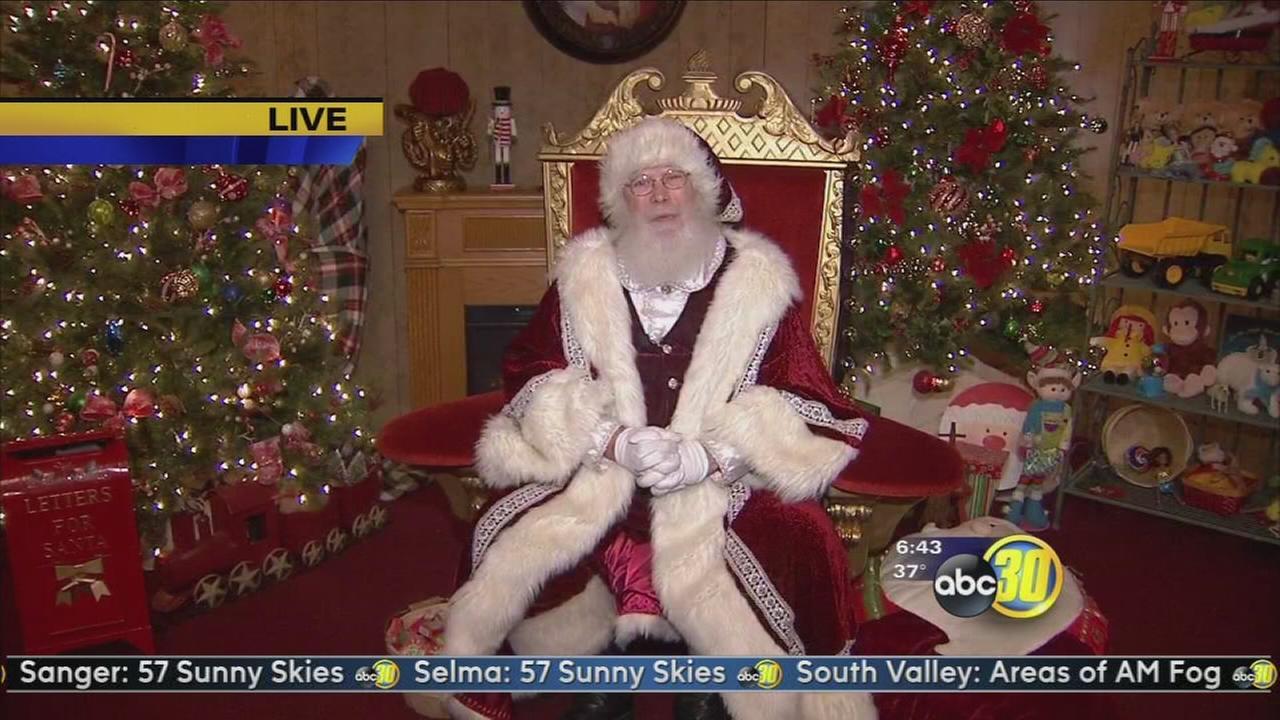 Santa Claus visits River Park Shopping Center