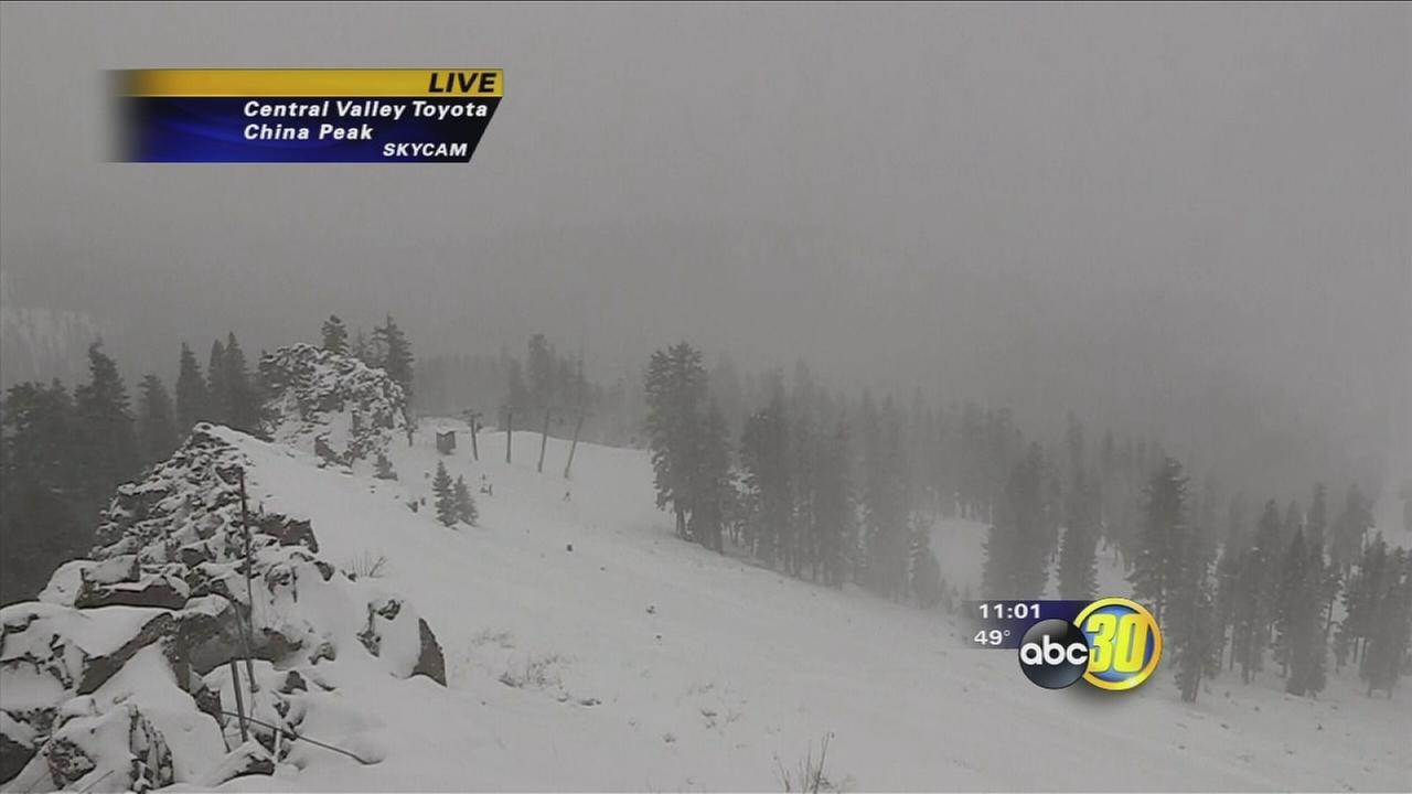 Winter storm moves in to Central California