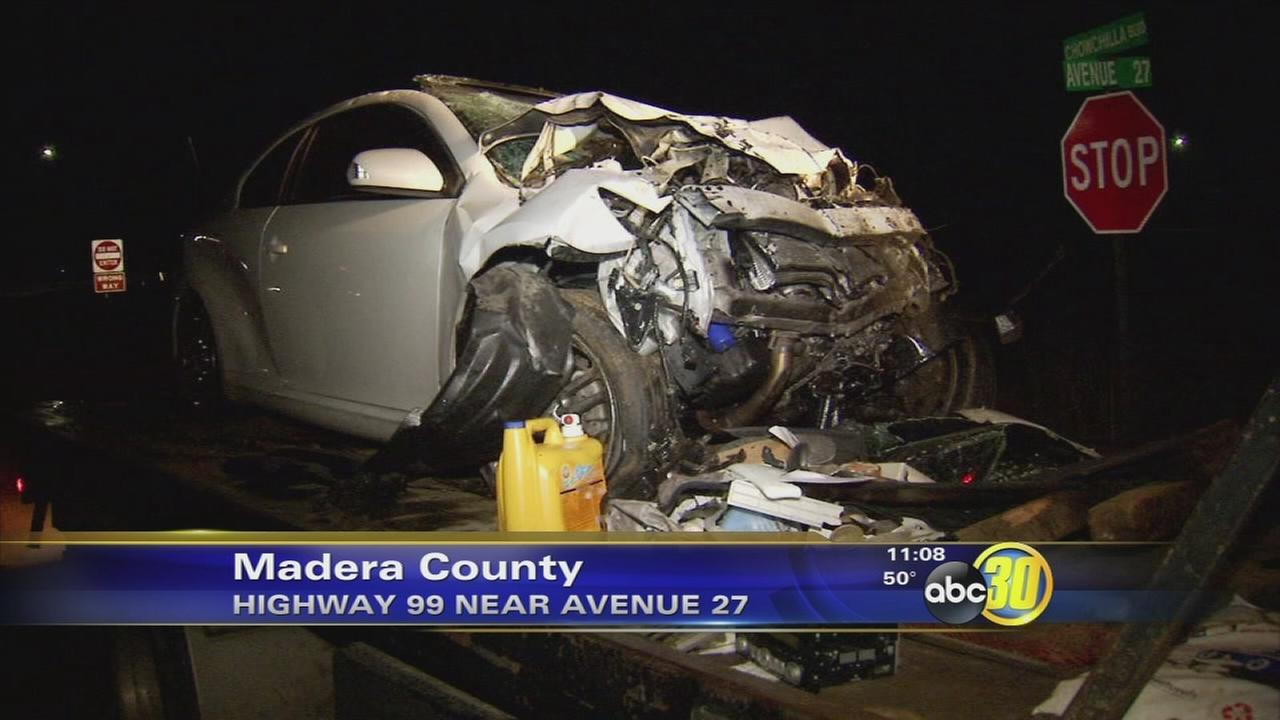 Car hit by train in Chowchilla