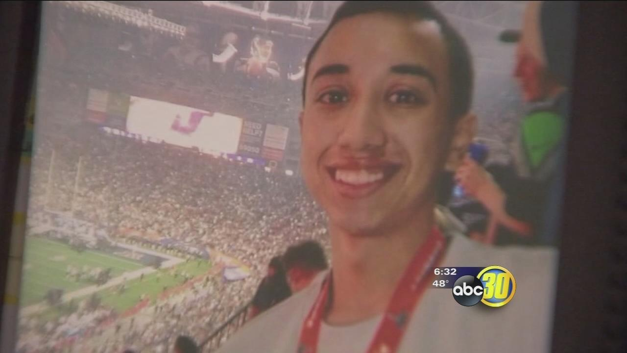Family and friends send a message after a 21-year-old hit and killed by a car in Merced
