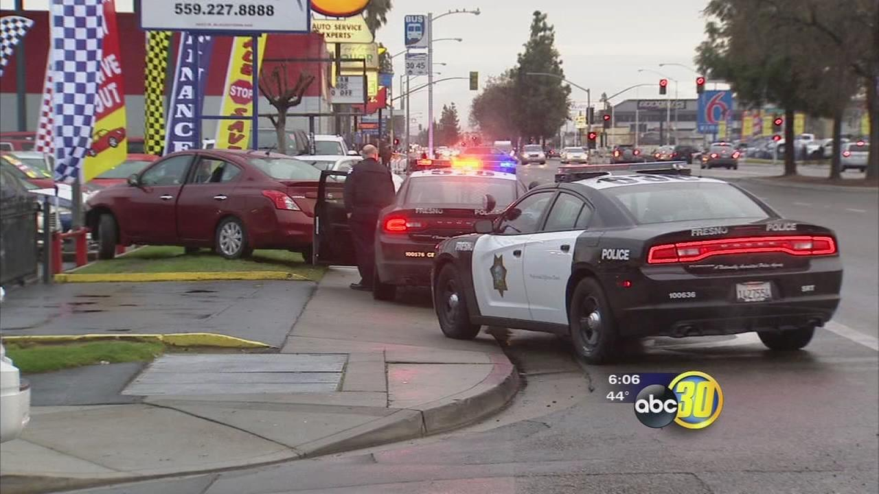 Wanted carjacking suspect arrested after chase and crash in Fresno, police looking for 3 more