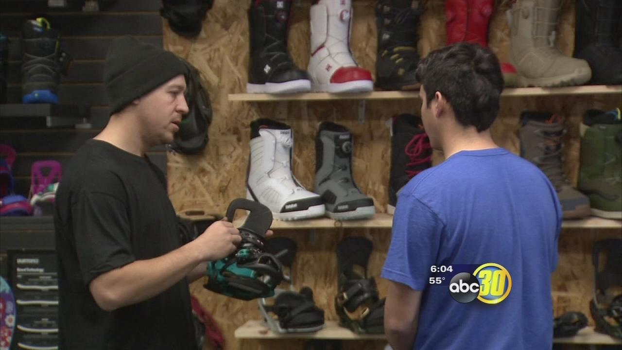 Series of storms having positive impact on local ski equipment retailers