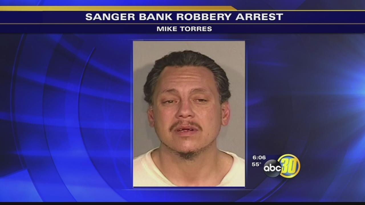 Man arrested after attempting to rob a Sanger bank