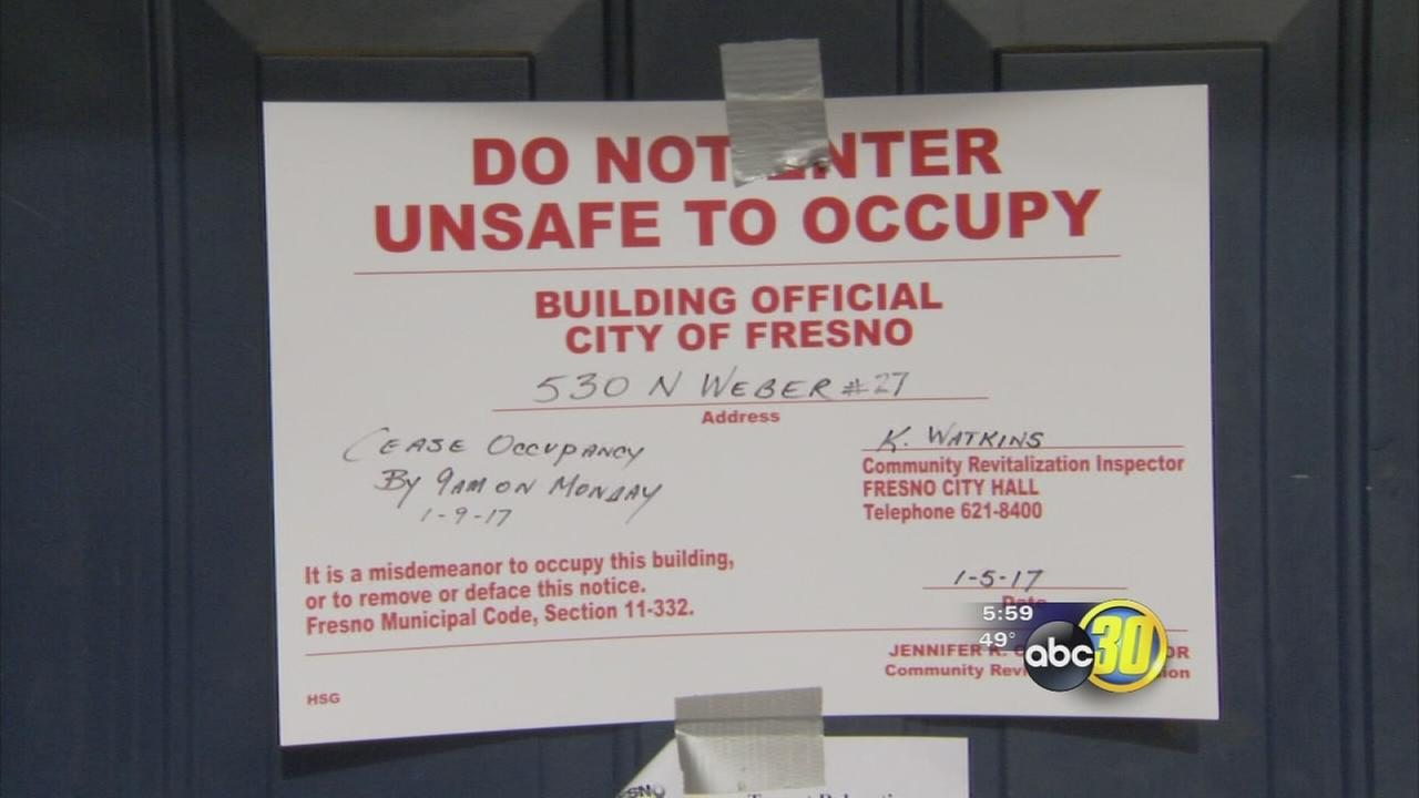 Residents of Hotel California in Central Fresno asked to leave after city red tags building