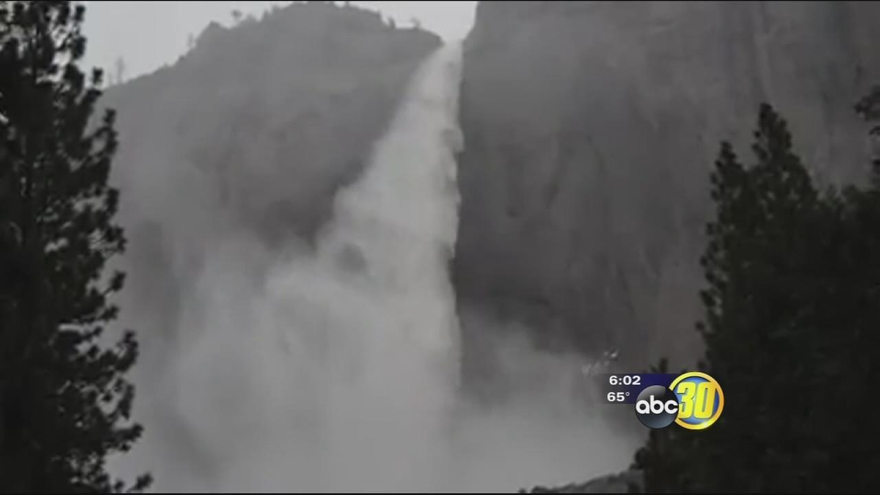 Heavy rain brings Yosemite National Park waterways near flood levels
