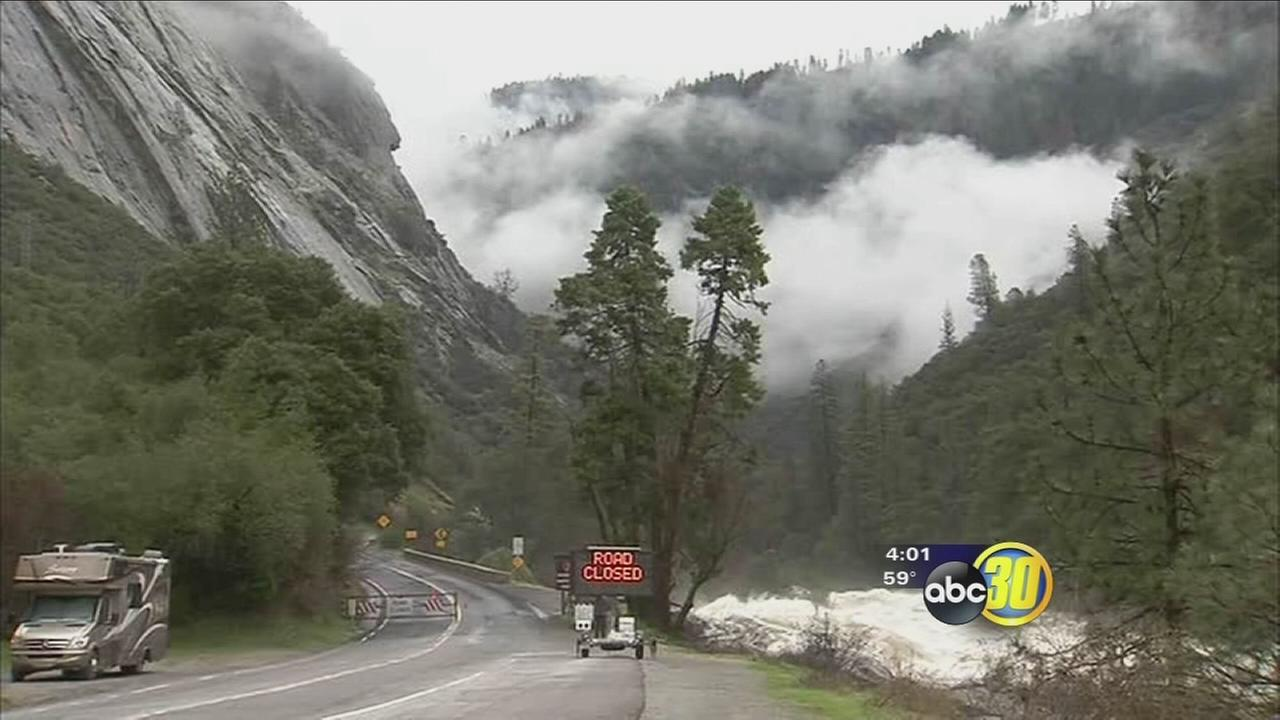 Yosemite National Park officials say storm damage was minimal despite road closures