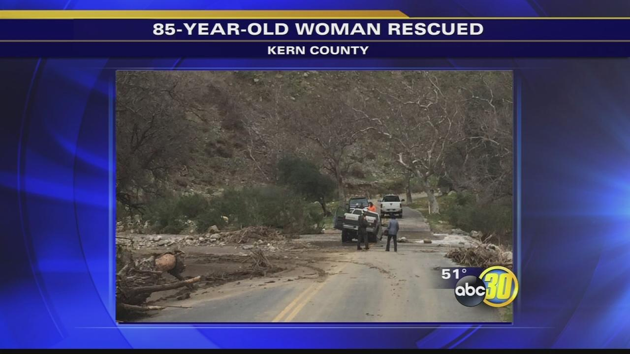 Kern County deputies rescue 85-year-old woman trying to cross flood waters