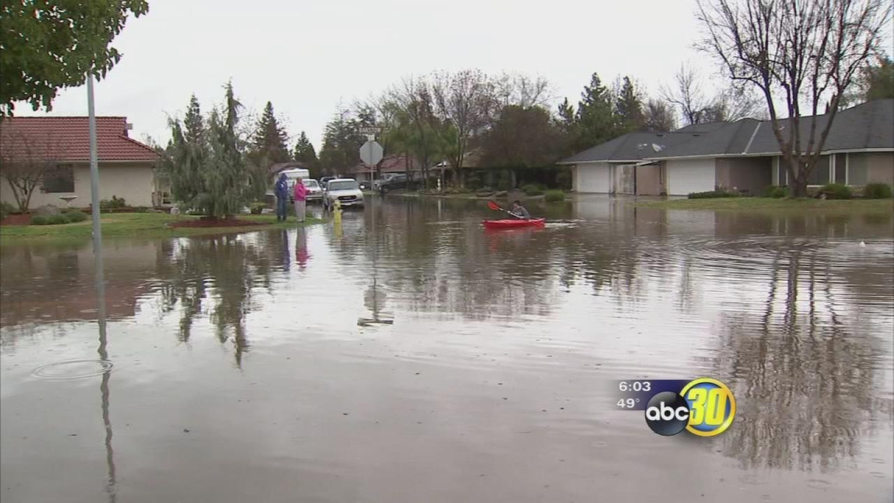 Widespread flooding reported on the east side of Fresno and Clovis