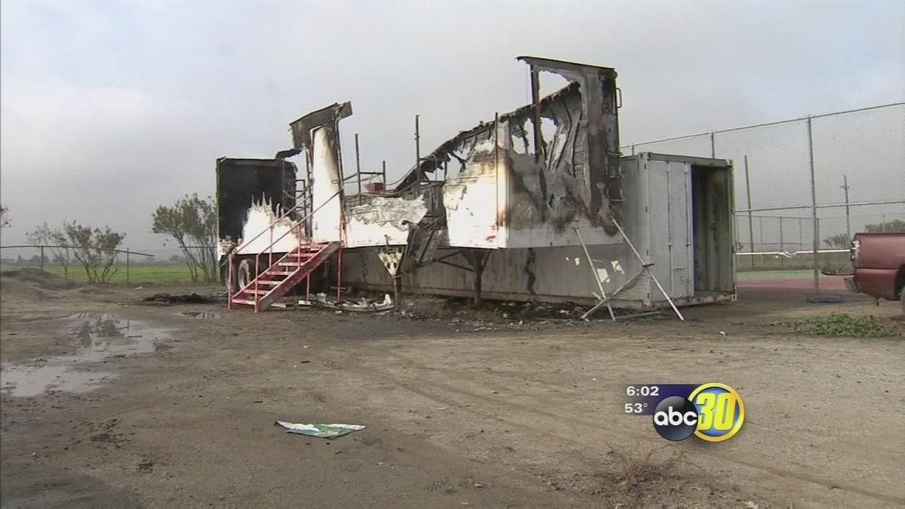 Los Banos little league team trying to raise money after fire destroys trailer with equipment in it