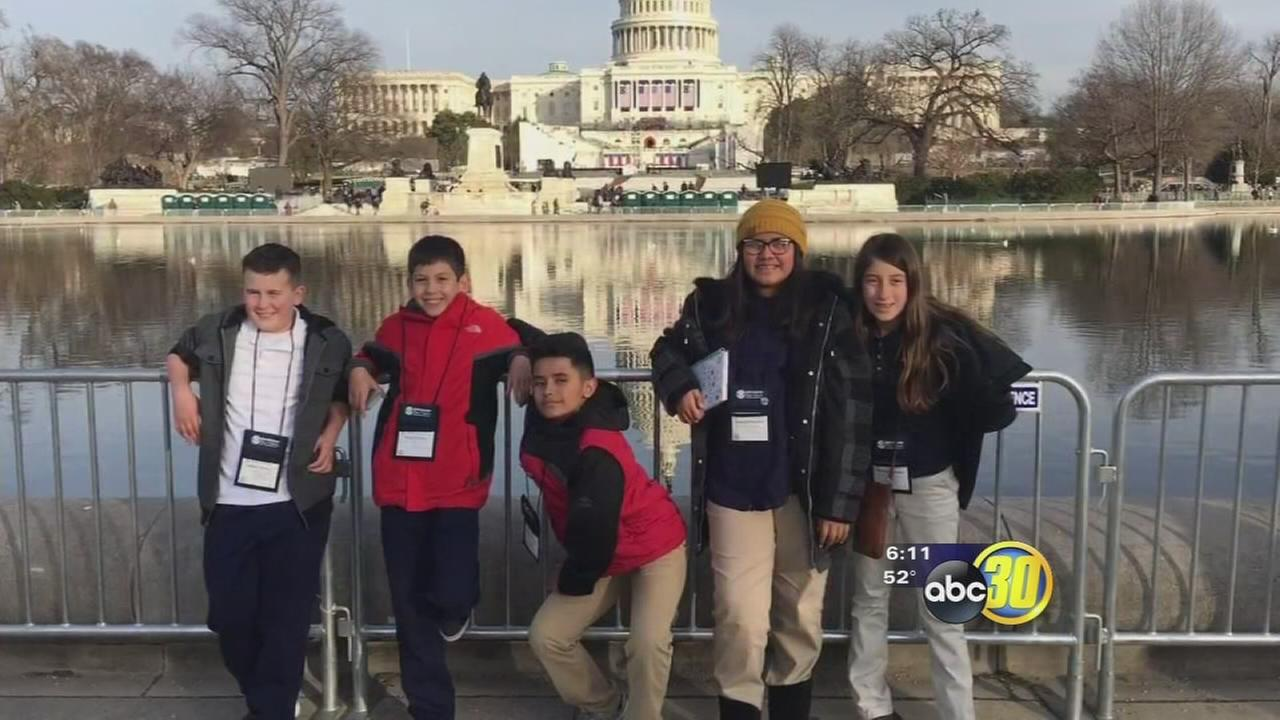 Local students getting to be a part of history at Trump inauguration