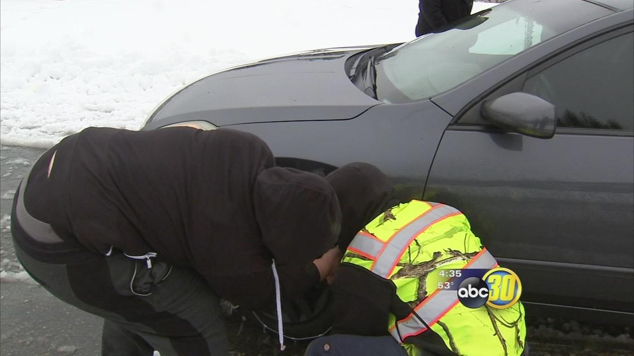 Snow fall causing challenges for drivers
