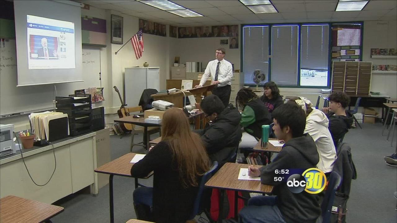 Inauguration part of lesson starting political discussions at Roosevelt High School