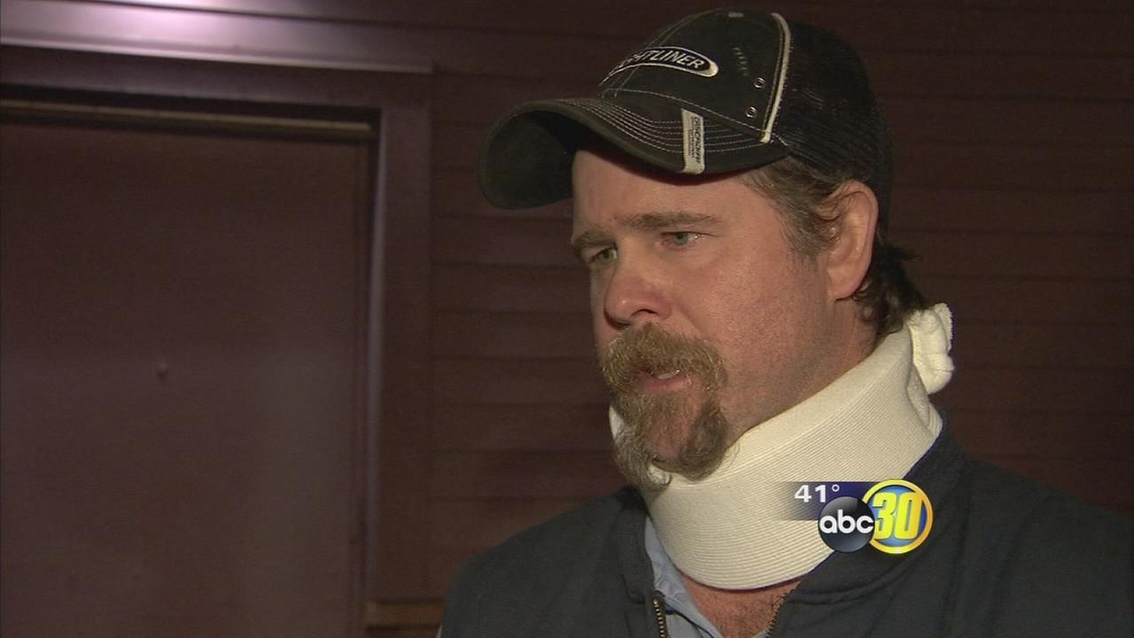 Man recalls moments before a suspect fleeing police crashes into him on Highway 41
