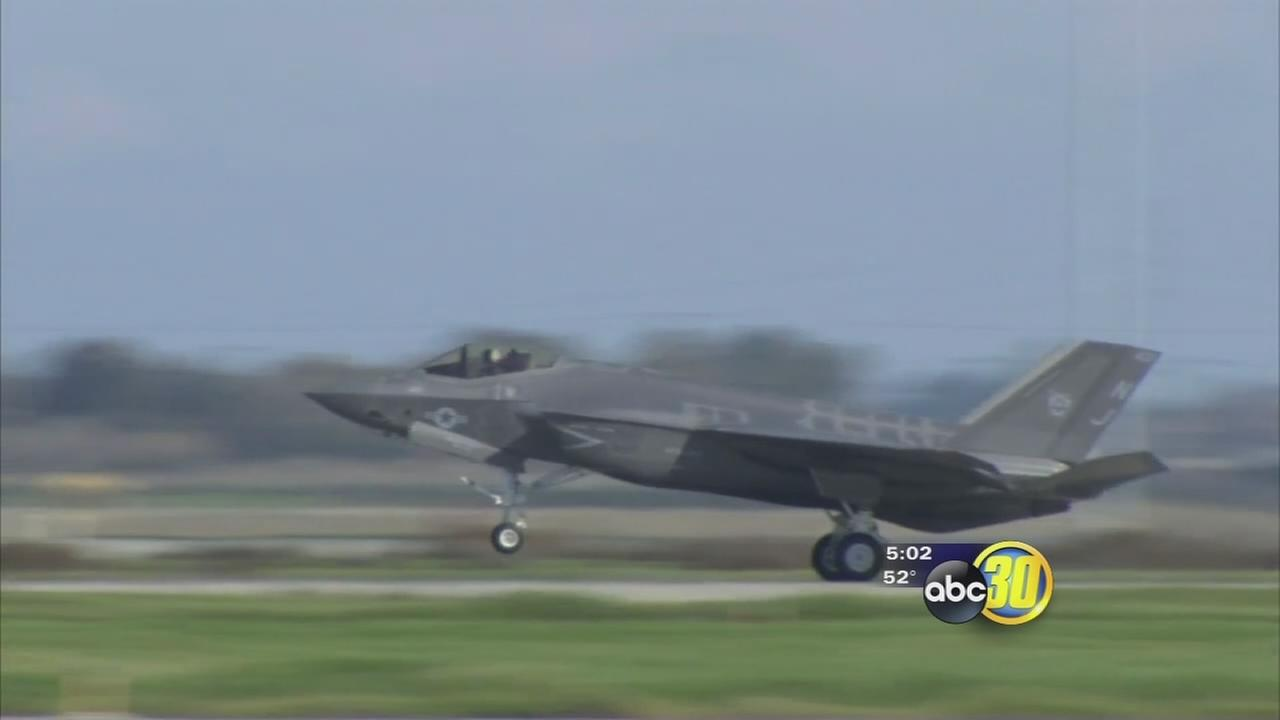 First pieces of Americas most expensive military program have arrived in the Central Valley