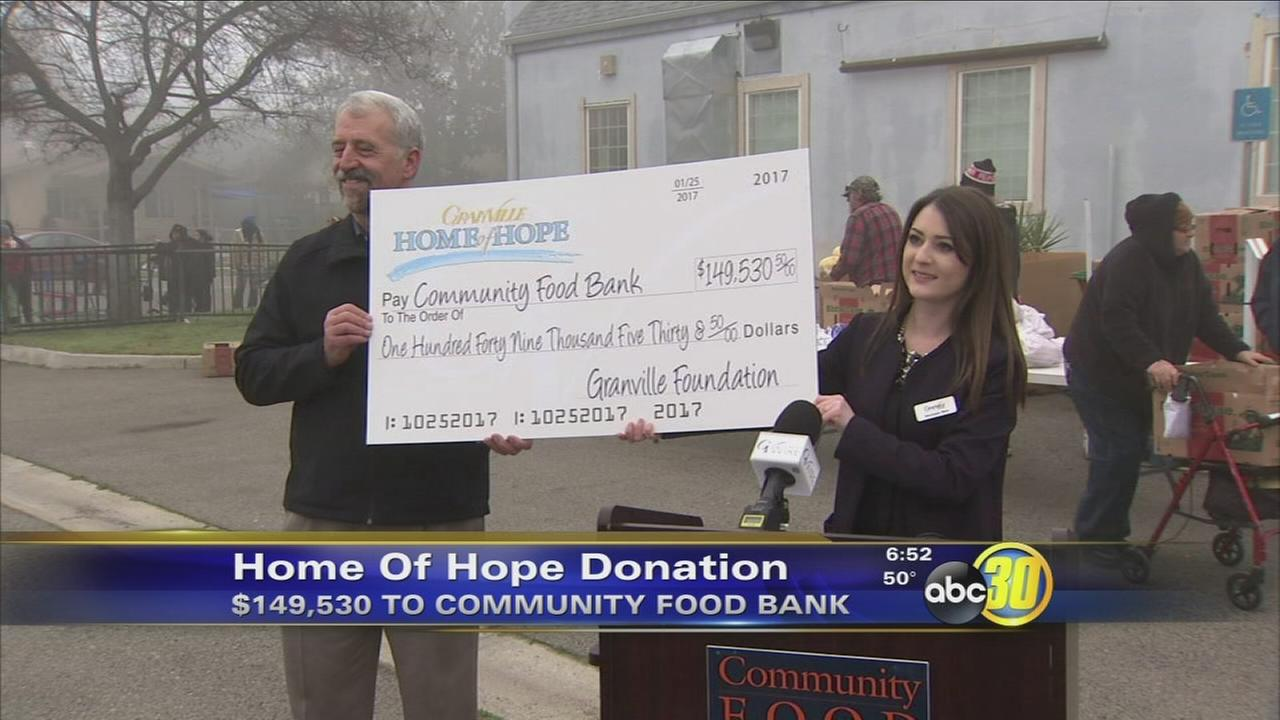 Community Food Bank gets recieves generous gift