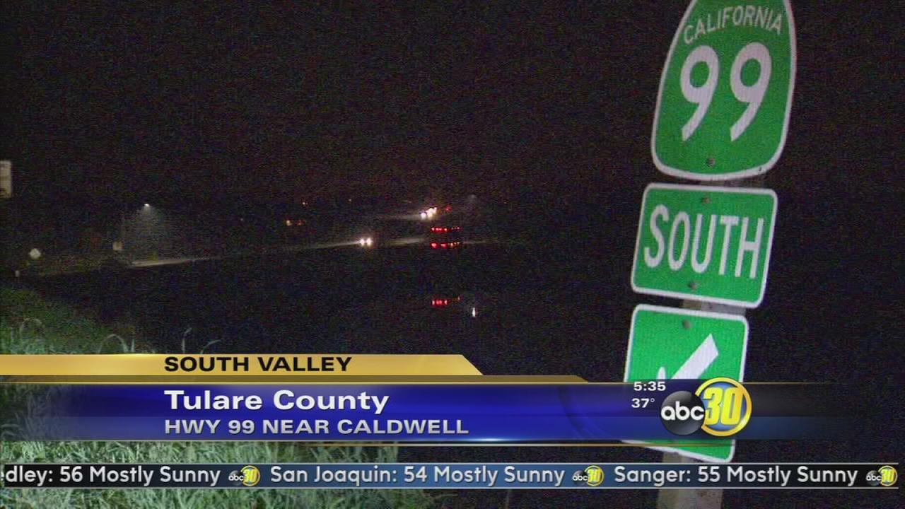 Pedestrian killed crossing HWY 99 after accident near Visalia