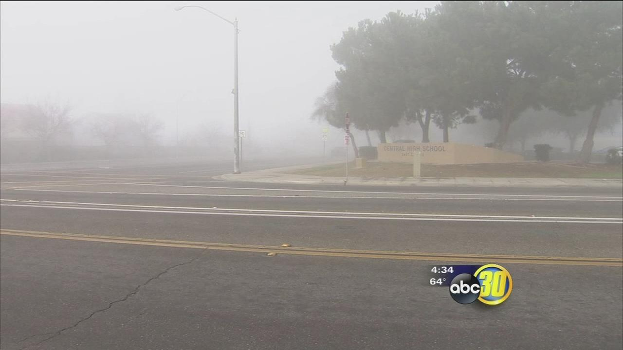 Fog causes many local school districts to delay classes
