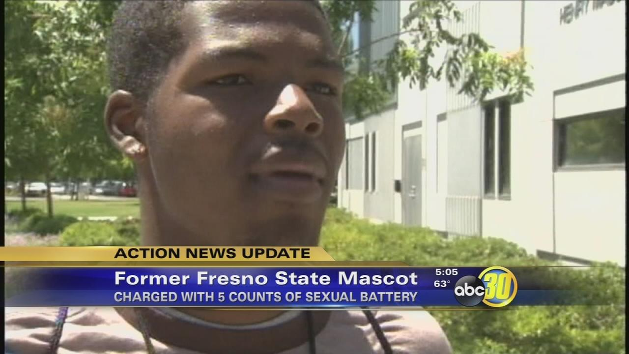 Former Fresno State mascot facing 5 misdemeanor counts of sexual battery