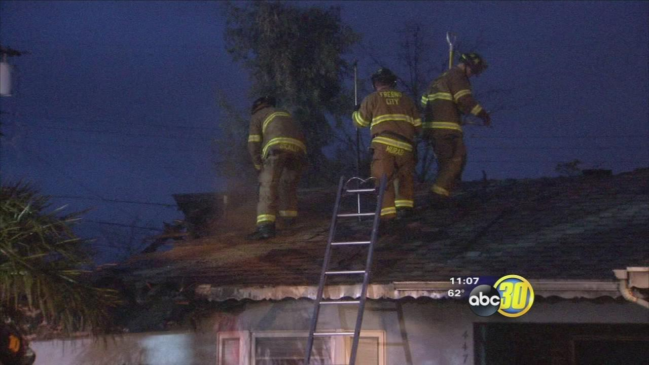Fresno authorities say a suspicious fire is under investigation