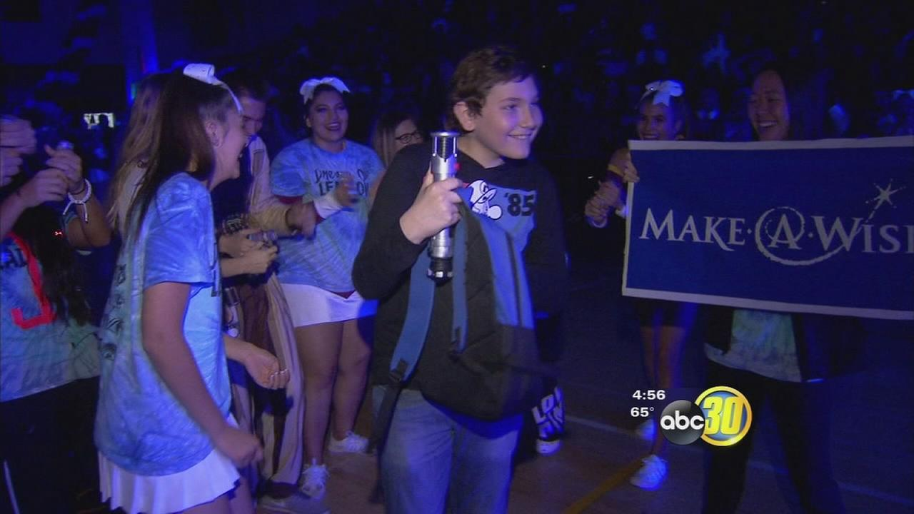 2 Clovis high schools teamed up with Make-A-Wish to send little boy to Disney World