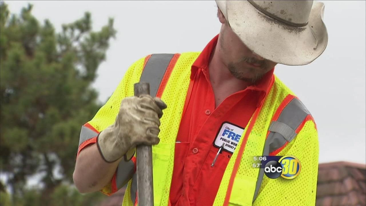 Cleaning crews busy across Fresno and Clovis after storms