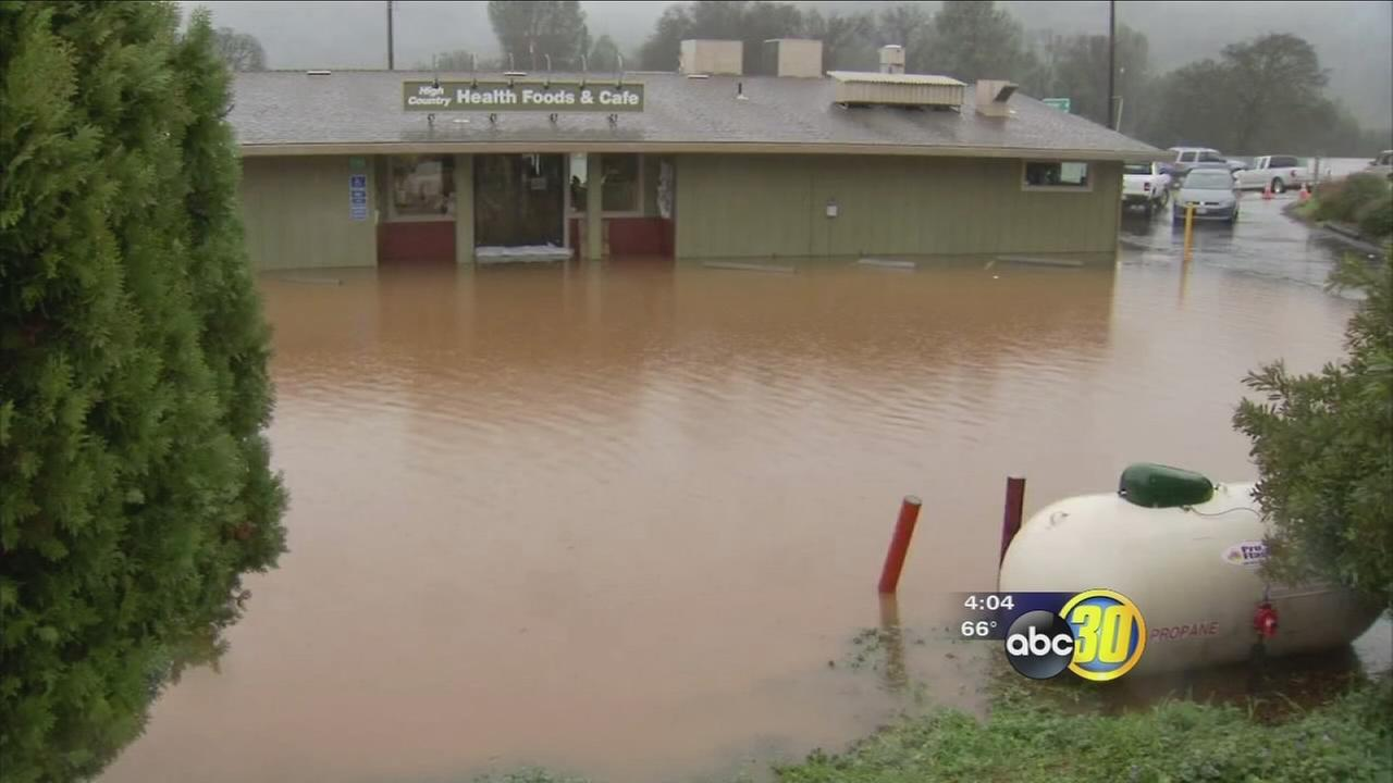 Downpour causes problems in Mariposa and thousands in damage