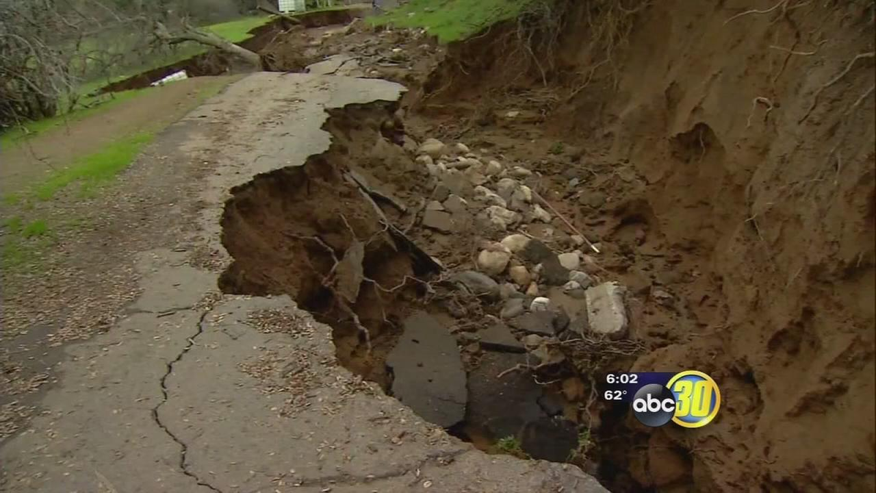 Tulare County culverts likely cause of severe damage to woman?s driveway