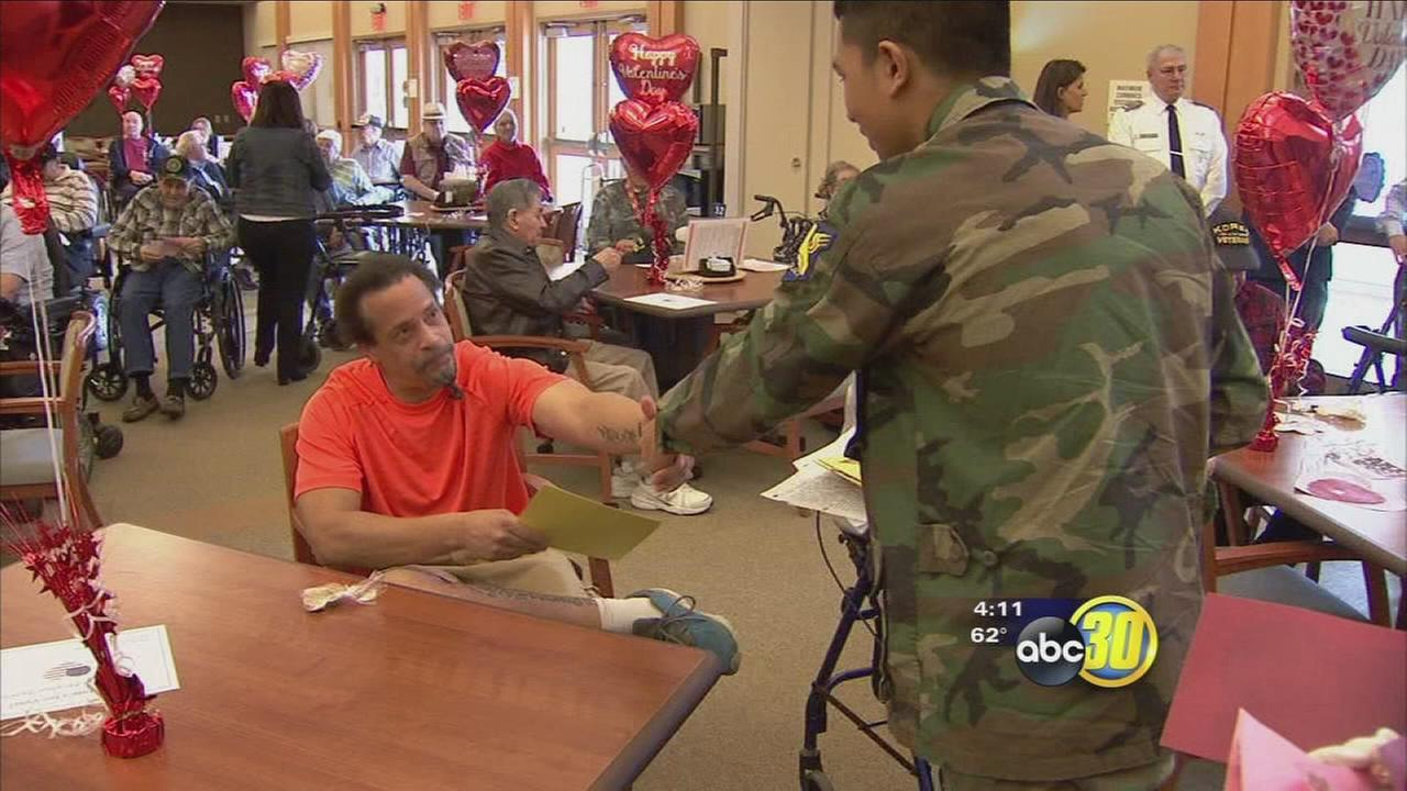Valley veterans receive early Valentines Day love for their service