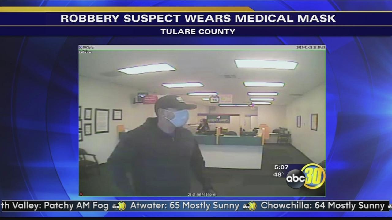 Visalia Police look for robbery suspect