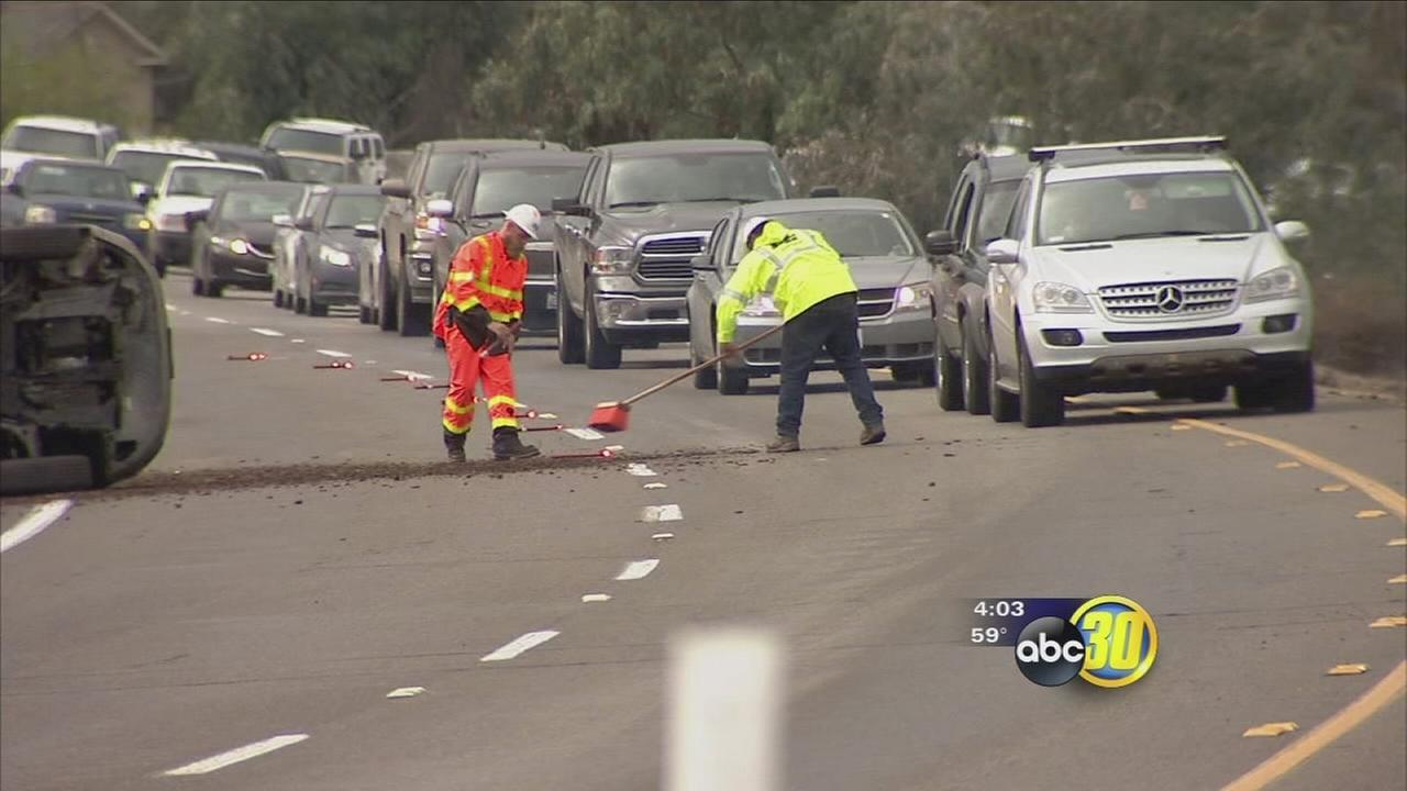 Caltrans officials say Valley commuters will have to wait for a permanent fix to pothole problem