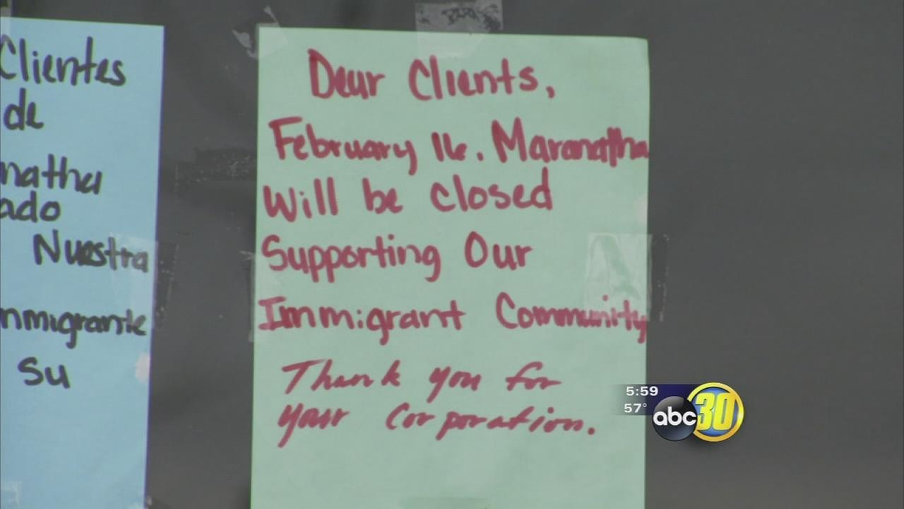 Some businesses in the Valley closed their doors as part of the national a Day without Immigrants protest