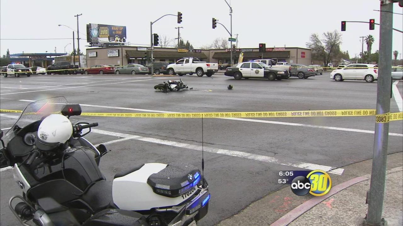 Blackstone Avenue closed off for hours after deadly motorcycle crash in Northeast Fresno