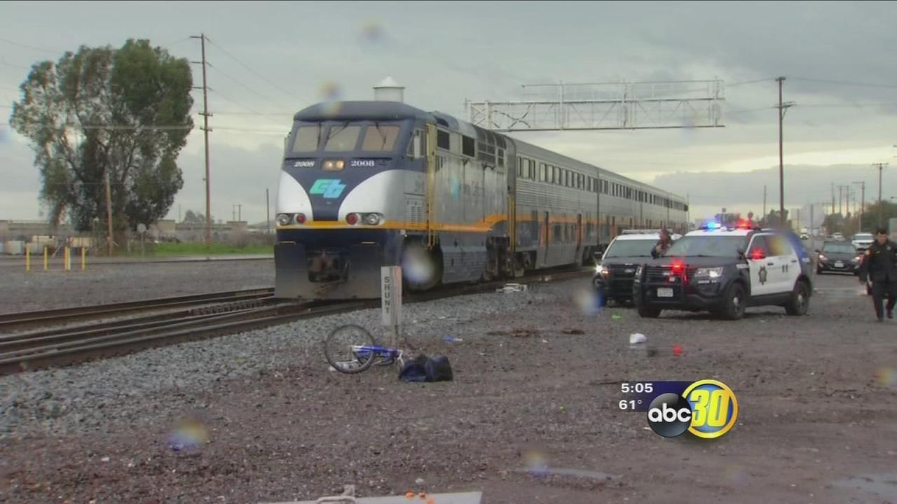 Man killed after being by Amtrak train in Southeast Fresno