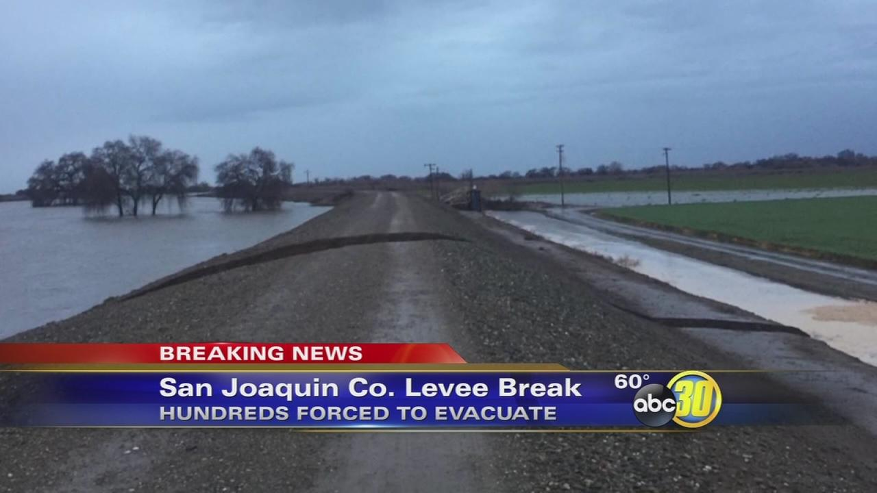 Levee break in San Joaquin County halted, evacuations remain in place