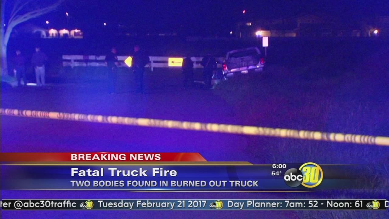 2 bodies found inside burning vehicle in Fresno