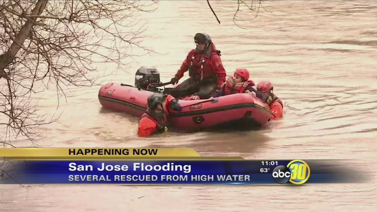 San Jose neighborhood under water following flash flood